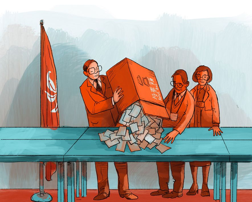 The first elections are held, producing a record turnout despite torrential rains. It is a landslide for pro-democracy candidates, who win more than 65 percent of the vote. But because of the city's new election structure under Chinese rule, pro-democracy candidates don't gain a majority in the legislature.