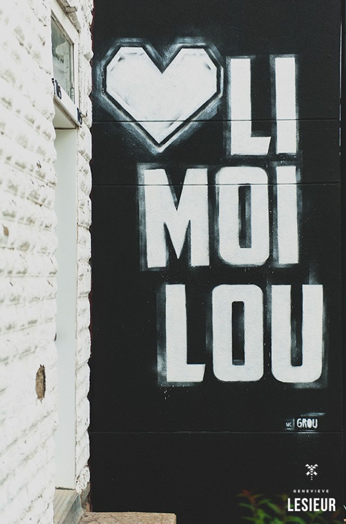 MC Grou's first mural in Limoilou (heart Limoilou).