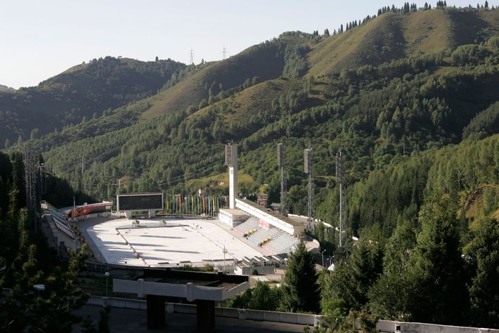 Built in 1972, the high-altitude Medeu Ice Rink has trained many champion skaters—though visitors of all ...