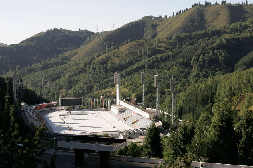 Built in 1972, the high-altitude Medeu Ice Rink has trained many champion skaters—though visitors of all skill levels can rent skates and enter for the equivalent of a few American dollars.