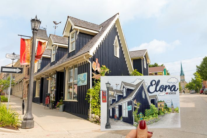 An artistic look at Mermaid in Elora, the specialty shop in downtown Elora.