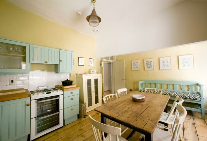 Merrion Mews comes complete with a country-style kitchen and bedrooms with wood panelling, flowery wallpaper and antique ...