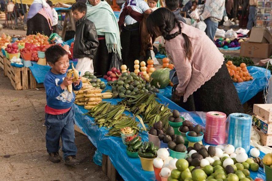 Market, San Juan Chamula. Image: Alamy
