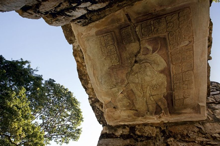 A carving at Yaxchilan. Image: Getty