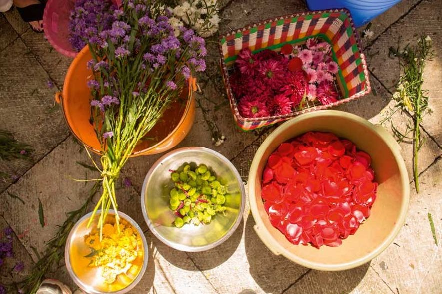 Colourful floral tributes are a key part of Day of the Dead's aesthetic. Ancient peoples believed ...