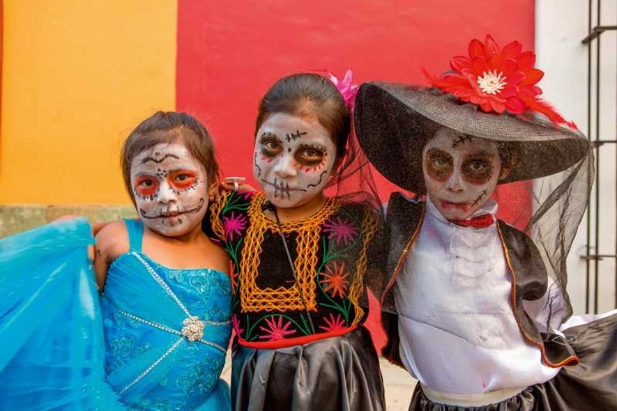 Tradition has merged with modern practices when it comes to costume, with many dressed as the ...