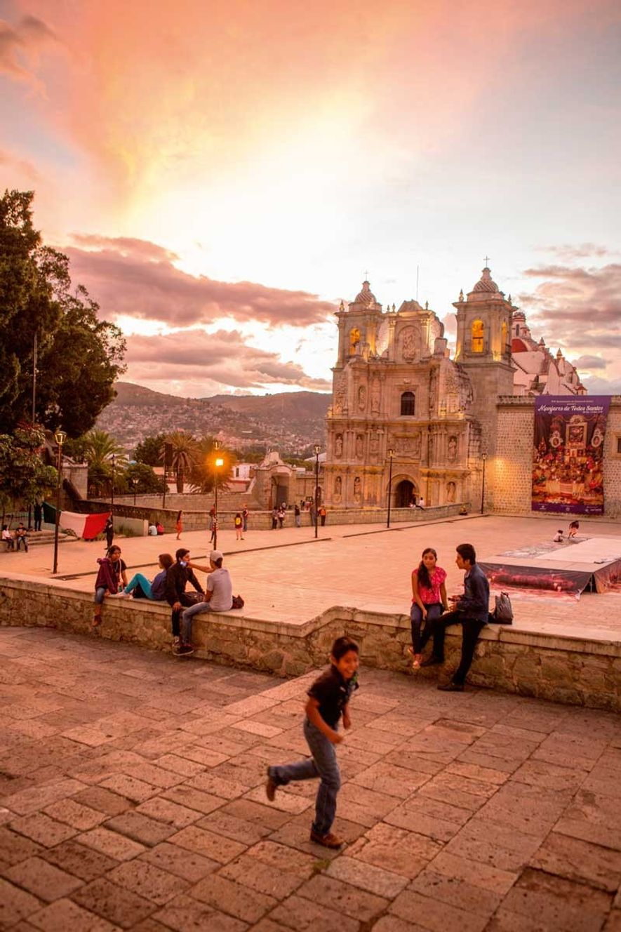 The cathedral of Oaxaca – construction of which began in 1535 – is a visual hub ...