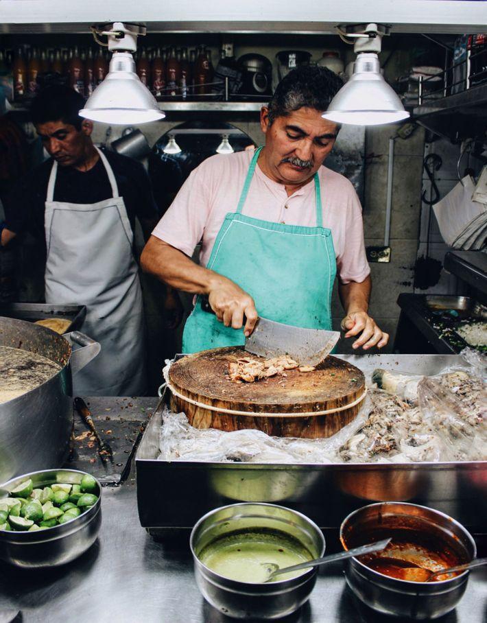 Tacos at Taquería Los Cocuyos