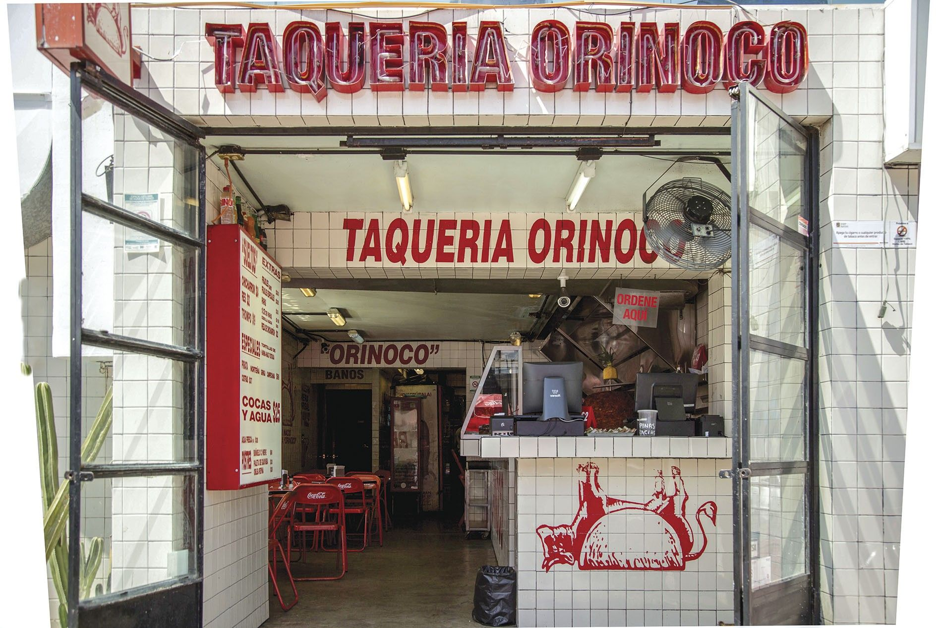 Taqueira Orinoco serves old-school tacos popular with locals and visitors.