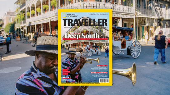 The October 2021 issue of National Geographic Traveller (UK).
