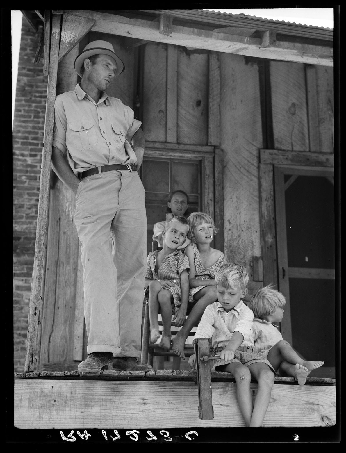 Cotton sharecropper family near Cleveland, Mississippi. June 1937.
