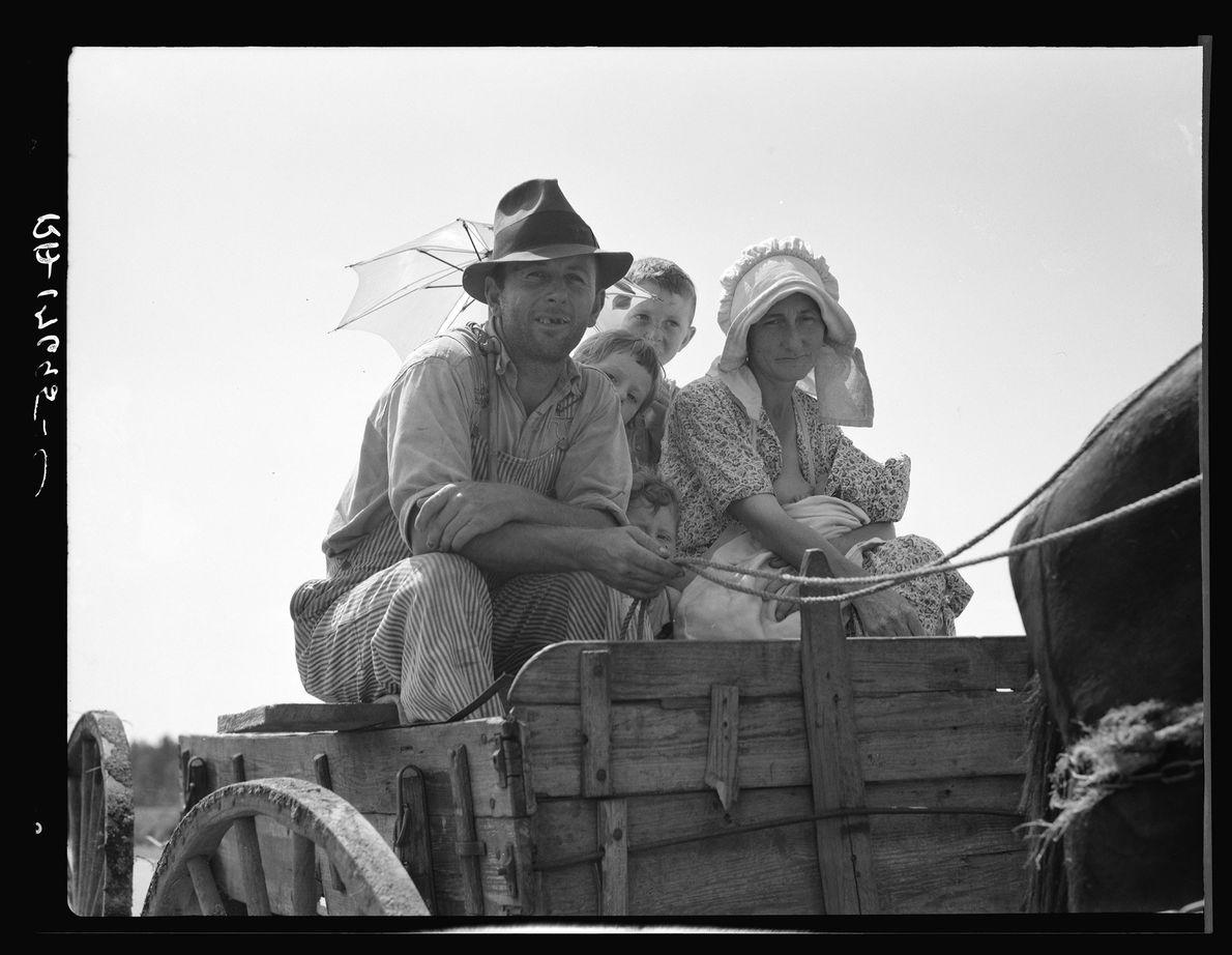 Sharecropper family near Hazlehurst, Georgia. July 1937.