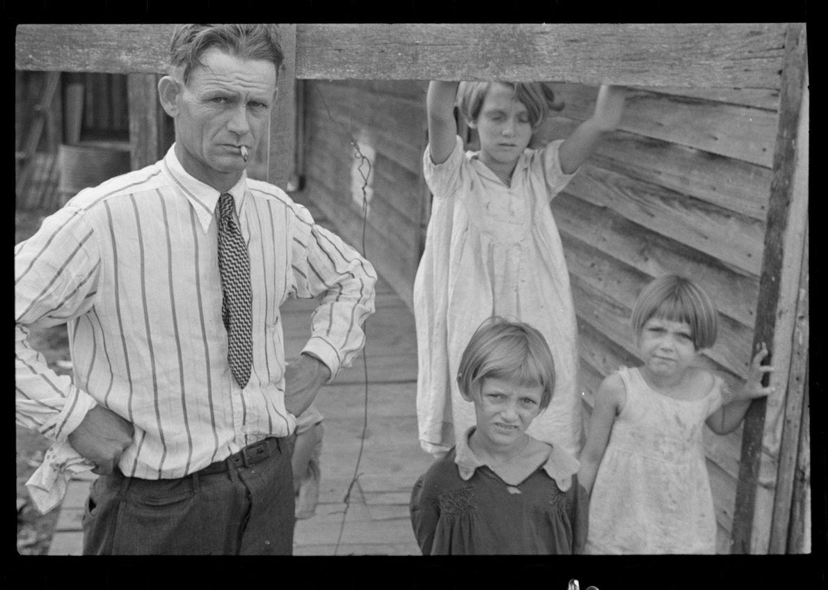 Trische family, tenant farmers, Plaquemines Parish, Louisiana. October 1935.