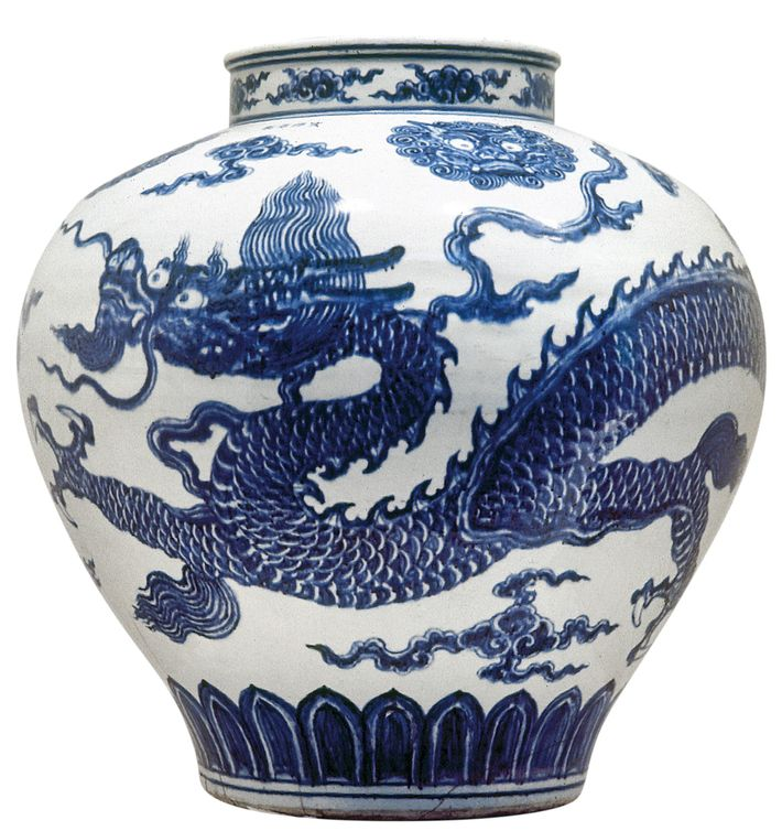 Ming vase from 1431, of the type traded during Zheng He's seven voyages.