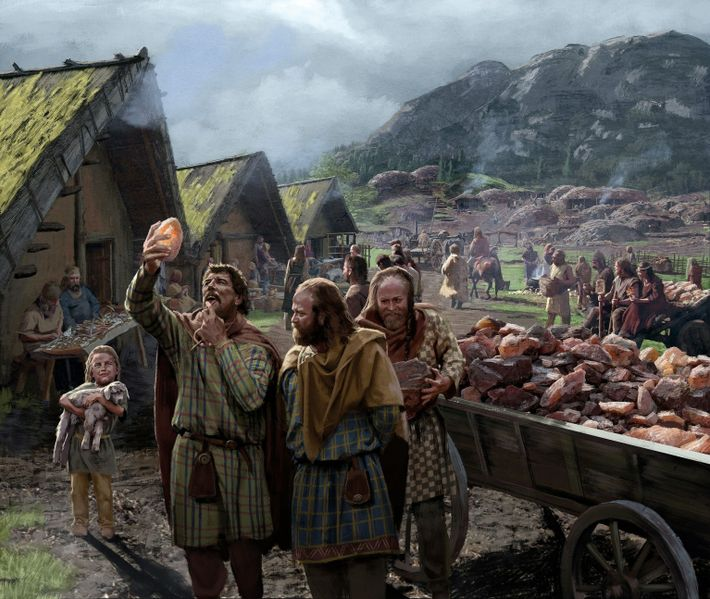 Mining and selling salt was central to the flowering of Celtic culture in Hallstatt (located in ...
