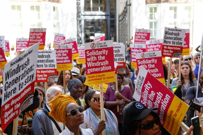 A 'solidarity with the Windrush generation' demonstration in London, 2018. A new report has revealed 'profound ...