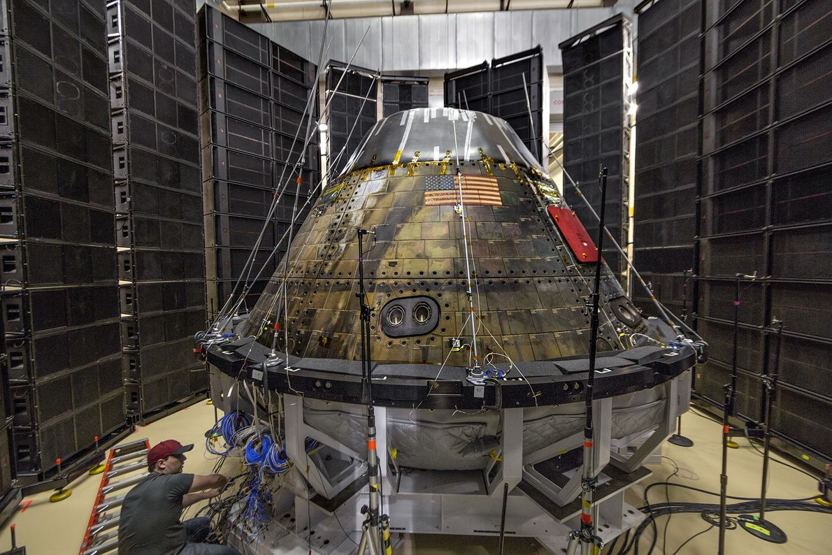 In addition to working with commercial partners, NASA is developing a crew capsule called Orion, designed ...