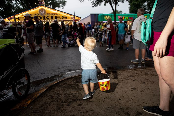 A little boy heads to Minnesota State Fair staple Sweet Martha's, which sells its chocolate chip ...
