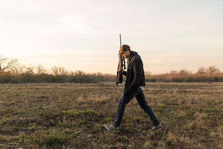 After shooting at a wild boar during a hunting weekend organized by the New School of ...