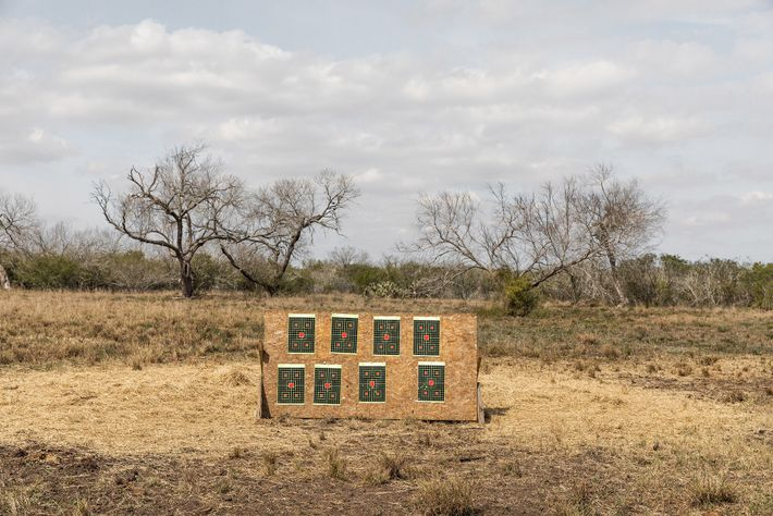 This target practice area is part of a private ranch, a hundred miles south of San ...