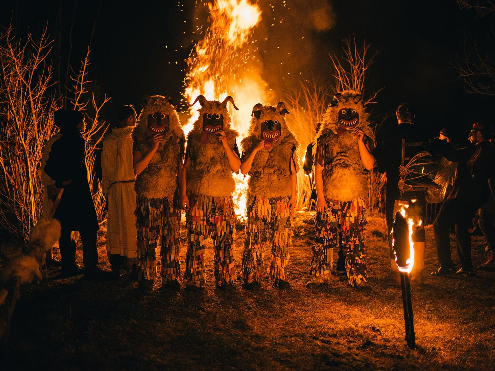 """As night descends on Ravenski Pust, the """"Ugly Ones"""" gather around a bonfire, where the villagers ..."""