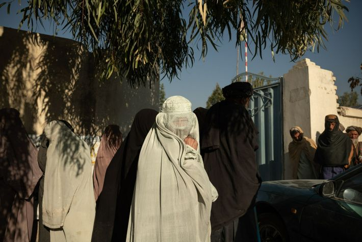 Every morning at the Ministry of Refugees and Repatriation in Kandahar, women and men displaced by fighting in districts contested by the Taliban ...