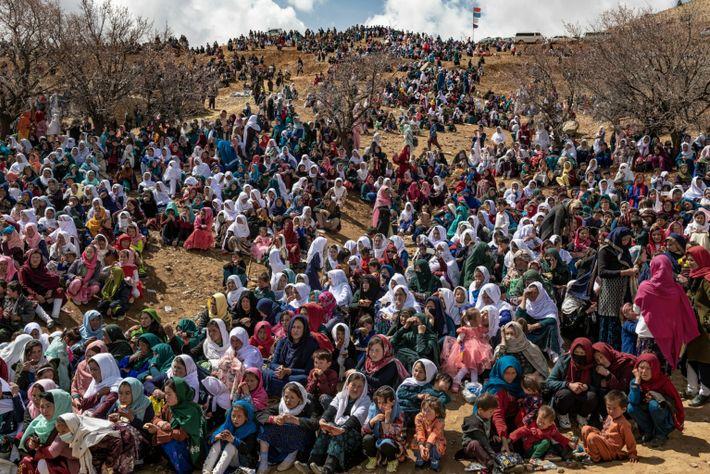 Thousands of Hazara, minority Shiite Muslims, gather in Daykundi Province to mark Nowruz, the first day ...