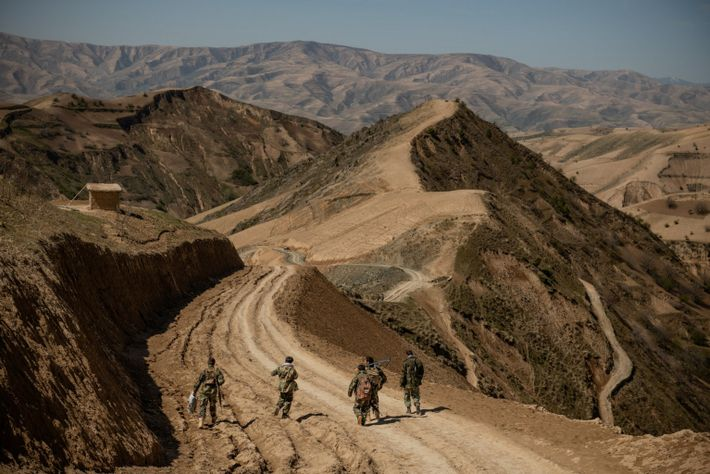 After four weeks at remote frontline positions in Badakhshan Province, off-duty Afghan soldiers trek five hours to reach the provincial capital, Faizabad. ...