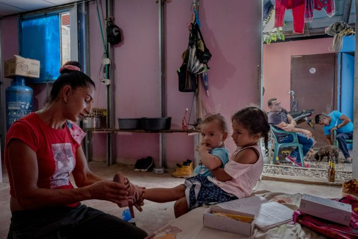 The name Esperanza Medina, 44, gave to her daughter—Desiree Paz, desire for peace—reflects her hope that ...