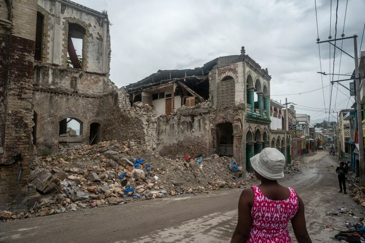 In the city of Jeremie, old colonial buildings collapsed during  Haiti's latest 7.2 magnitude earthquake. ...