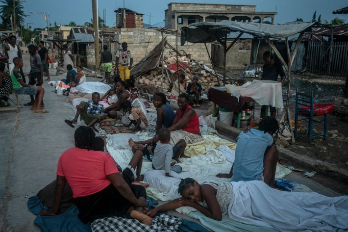 Most of the homes in Corail, Haiti, are uninhabitable. If they didn't fall completely, they are ...