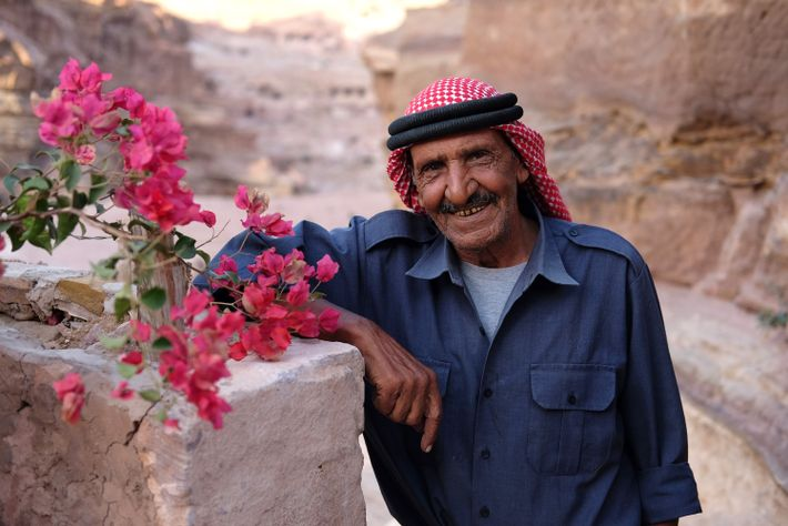 UNESCO tried to convince Mofleh Bdoul to take a house in the village, but he refused.