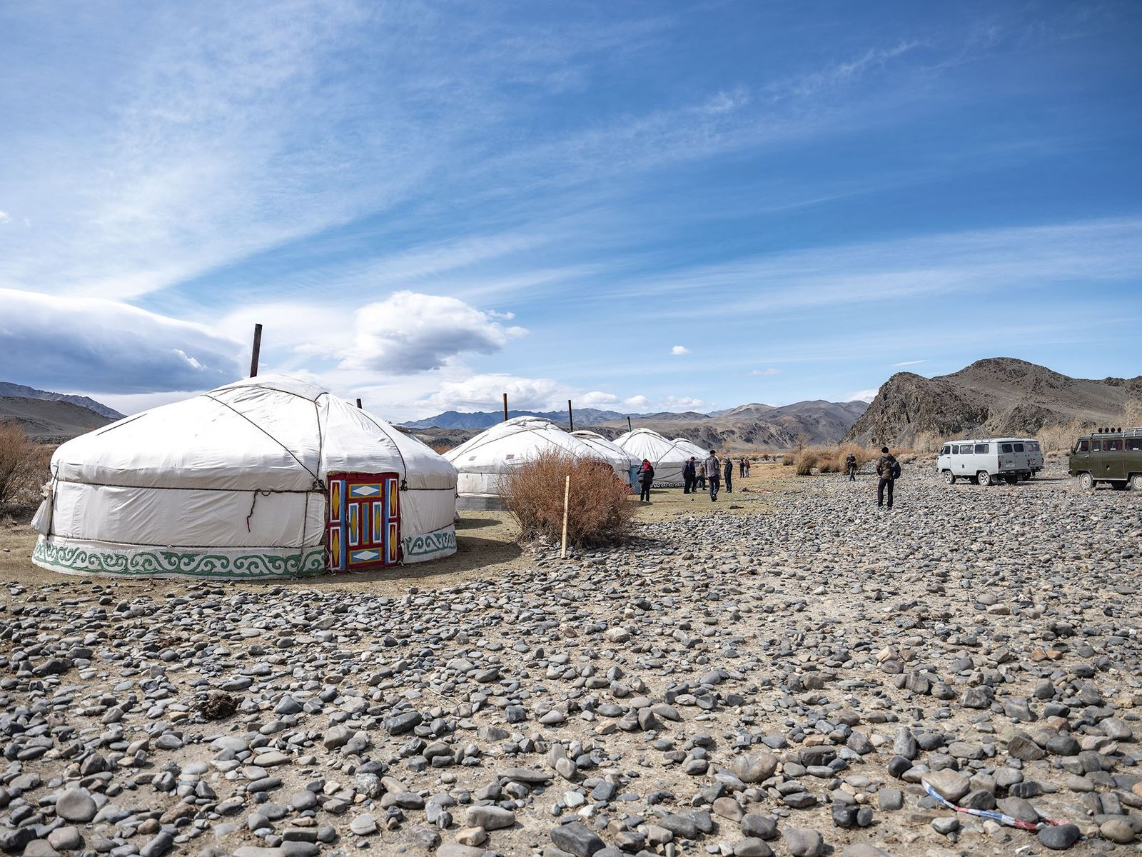 Traditional Mongolian ghers (tents)