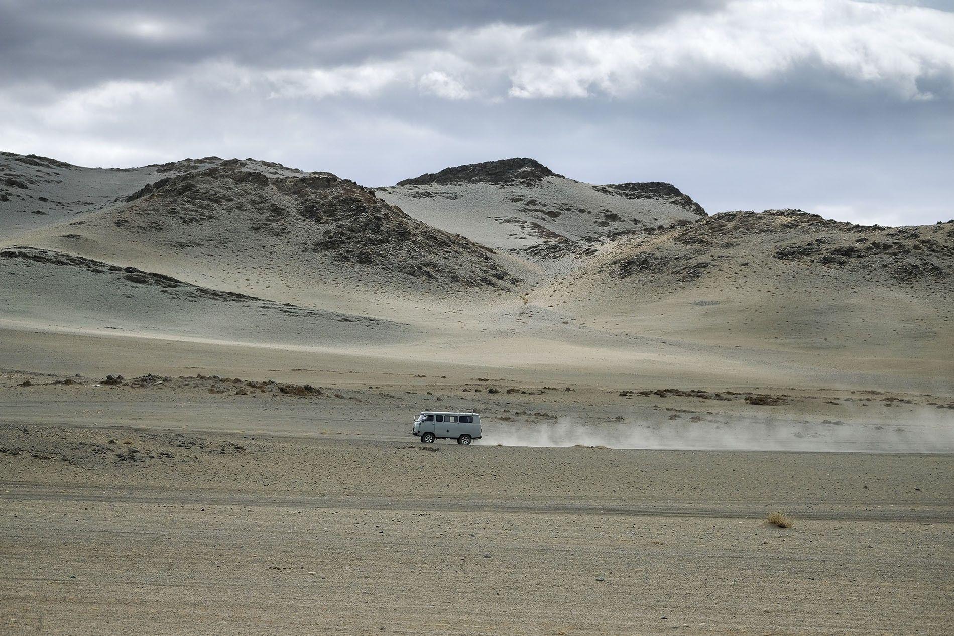 Endless steppe, Mongolia.