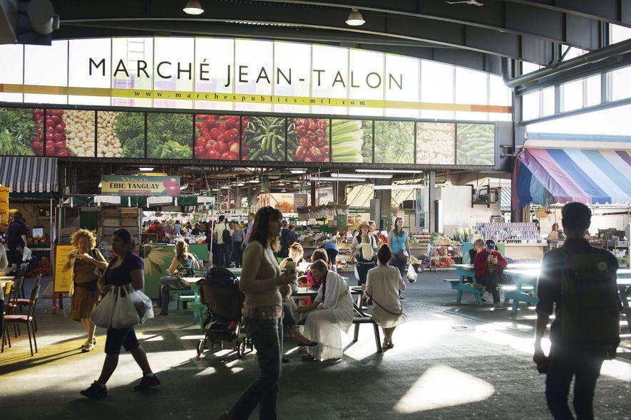 MarchéJean-Talon covered market, Saint Laurent Boulevard