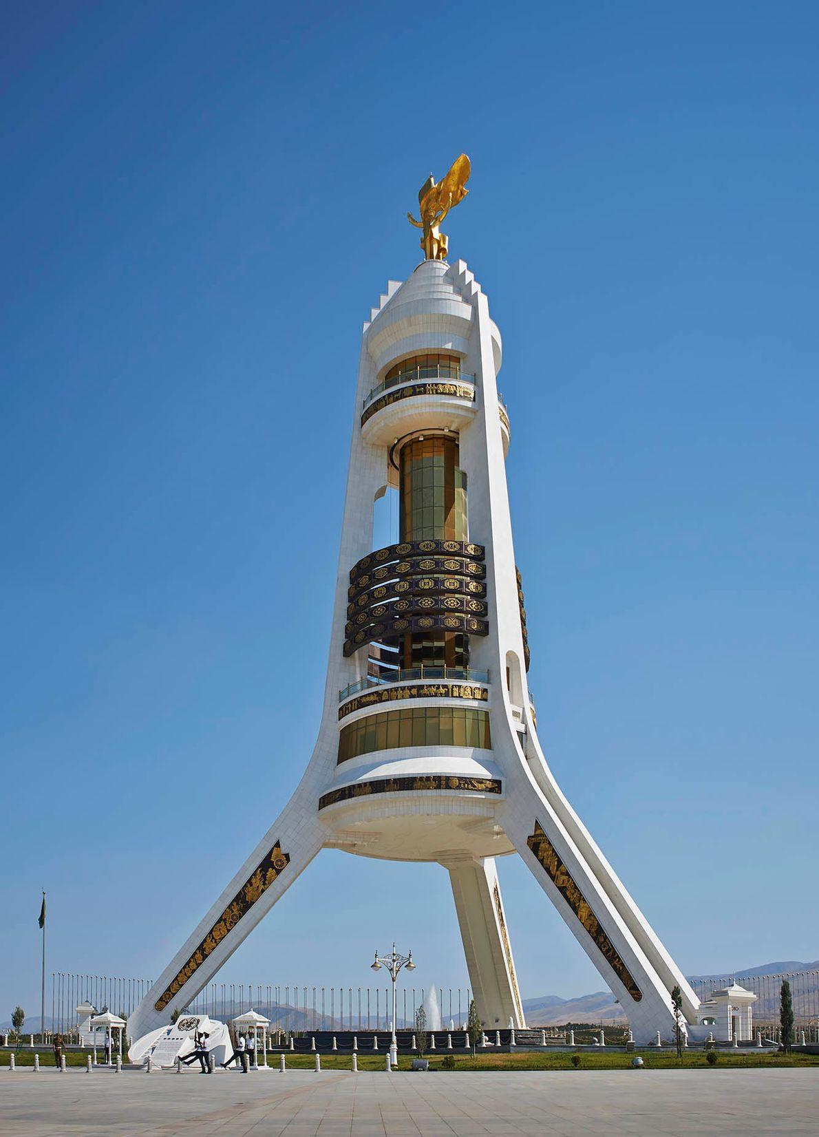 ASHGABAT, TURKMENISTAN Monument of Neutrality (1998)