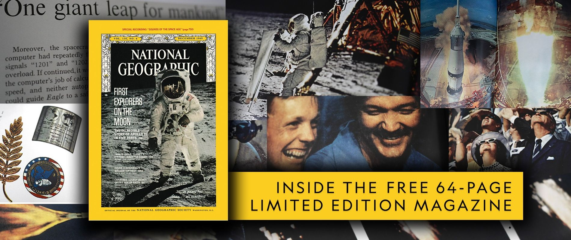 This special edition reprint of the original 1969 coverage of the Apollo 11 moon anding is ...