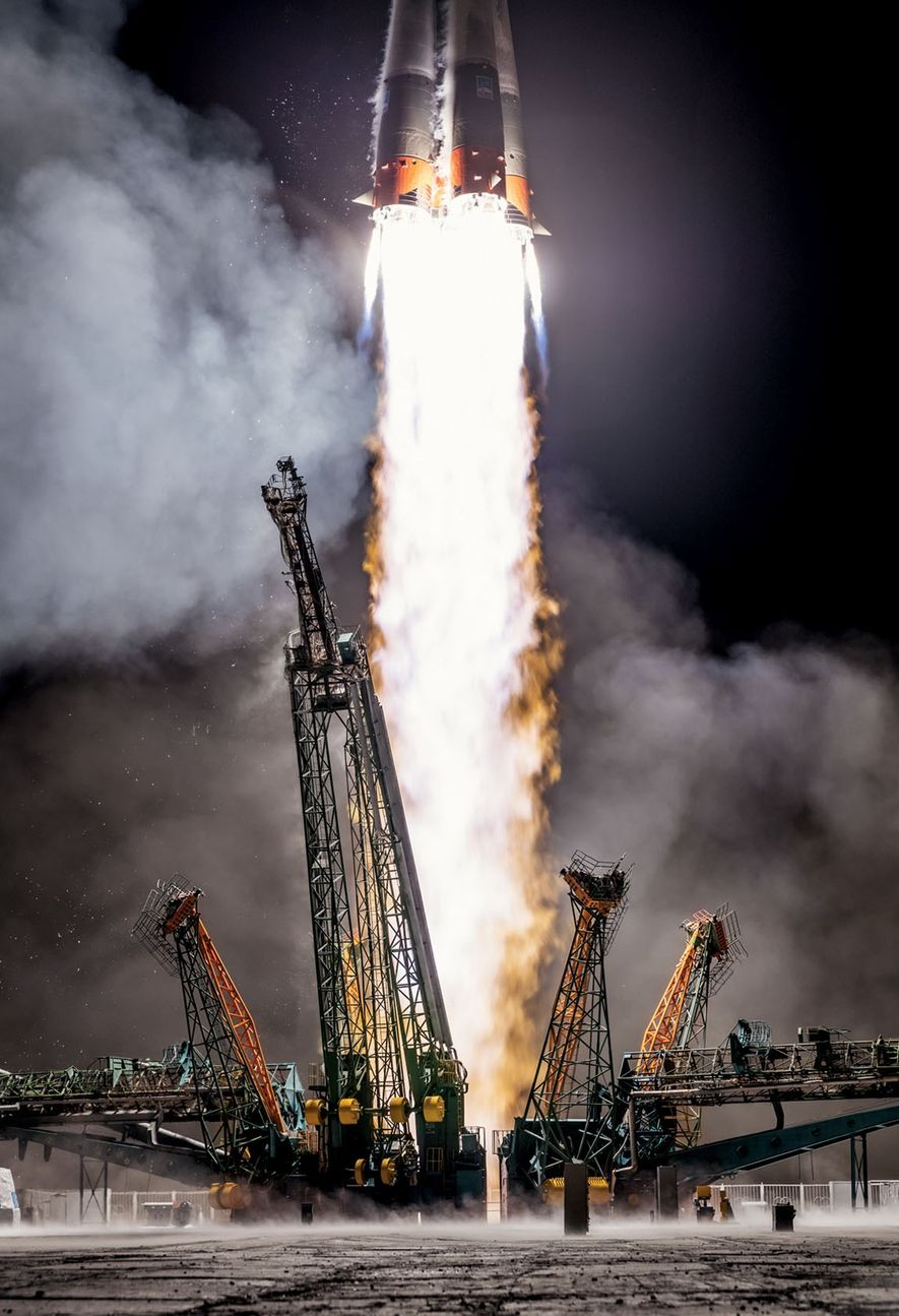 Using old but still reliable technology, Russia launches a Soyuz rocket in March from its Baikonur ...
