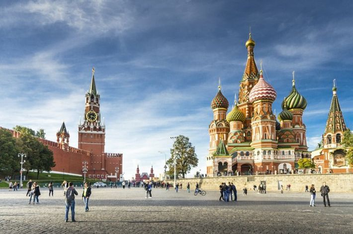 Saint Basil's Cathedral in Red Square. Image: Getty