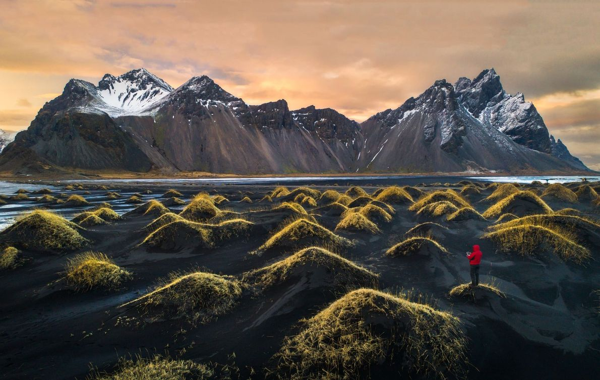 """""""This image is the newest addition to my Dronie (Drone Selfie) series. We visited Vestrahorn last ..."""