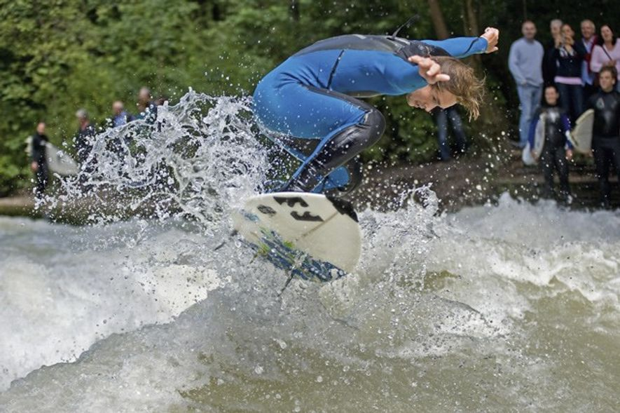 Munich is a somewhat unlikely surf capital, but an artificial wave on the Eisbach at the ...
