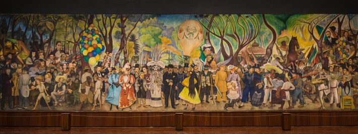 Diego Rivera's mural Dream of a Sunday Afternoon in the Alameda Central depicts key moments in ...