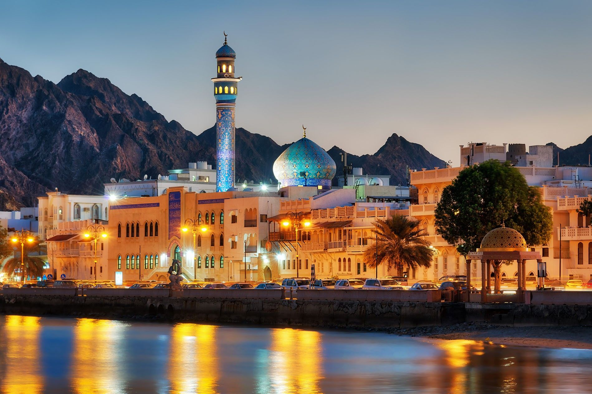 Muscat, Oman's capital, sits on the Gulf of Oman and is backed by mountains and desert.