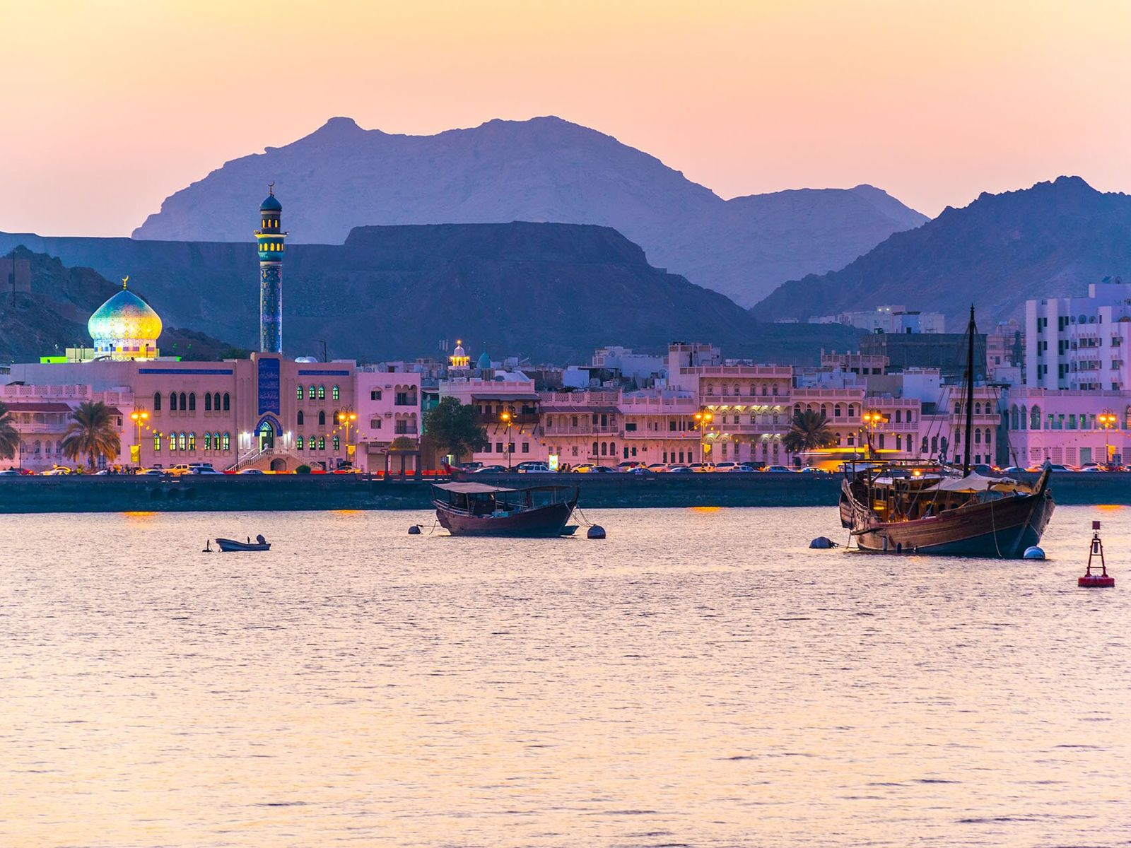 Muscat means 'safe anchorage,' and the capital's famous port plays an important role in Oman's economy.
