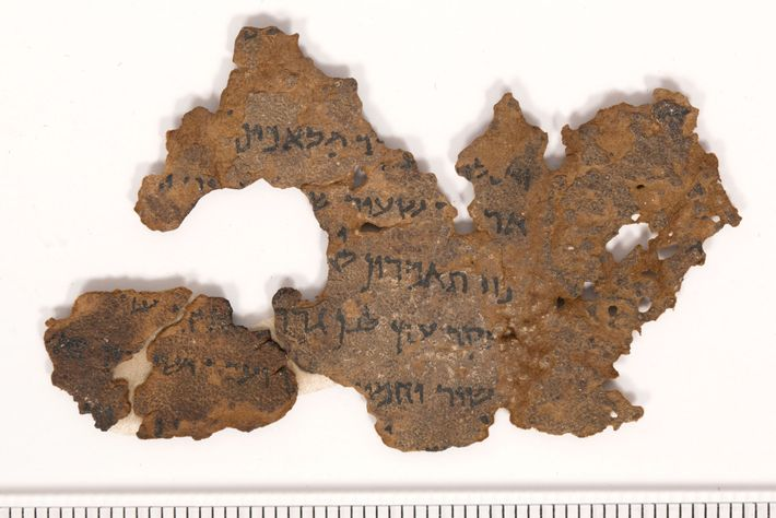 This Dead Sea Scroll-like fragment, one of 13 in the Museum of the Bible's collection, contains ...
