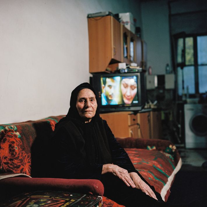 """""""The air here is impossible to breathe,"""" says Mulayim Ismaylova, one of thousands of displaced Azerbaijanis ..."""