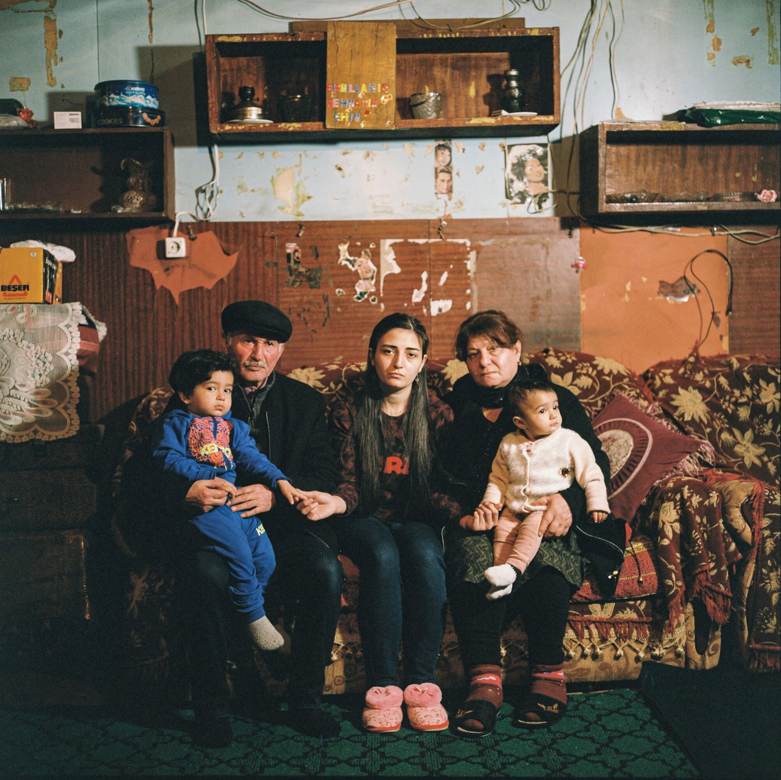 During the first Nagorno-Karabakh war, Gunay Hamidova (center) and her family were displaced from Ağdam, a ...