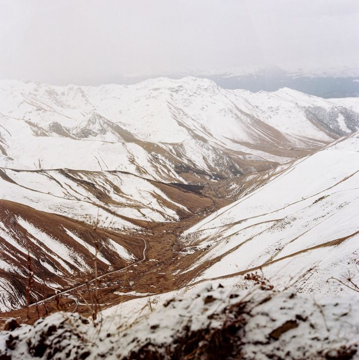 Thousands of Azerbaijani refugees traveled through this pass in the Murov mountains to escape during the ...