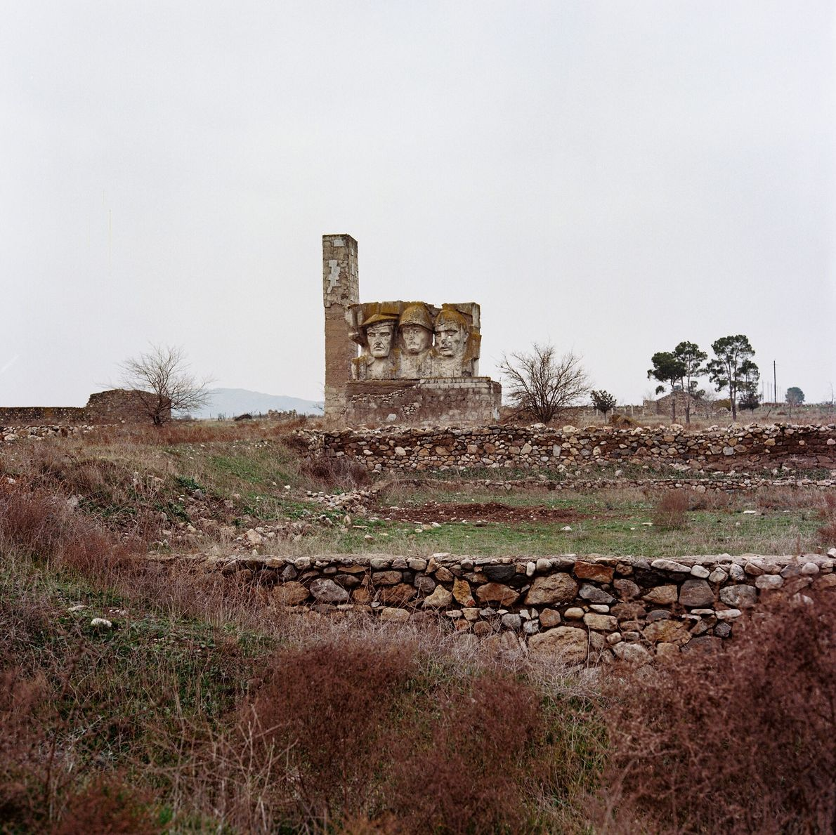 A Soviet-era World War II monument still stands in Jabrail province.