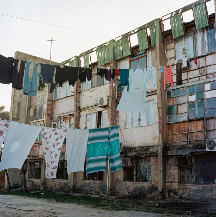 For nearly three decades, internally displaced people have lived in makeshift settlements like this one in ...